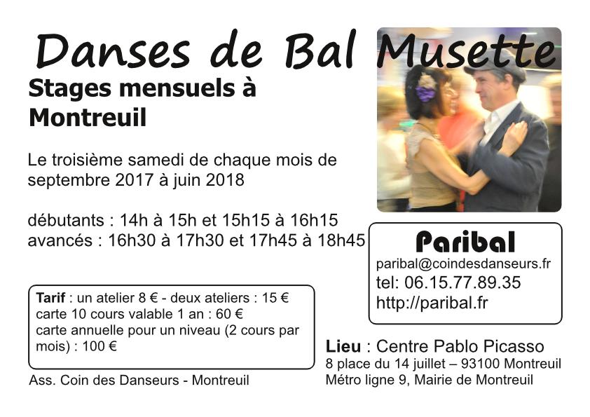 Stages à Montreuil 2017-2018