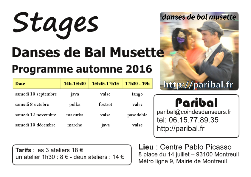 Stages Automne 2016