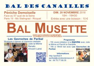 Bal des Canailles novembre 2016