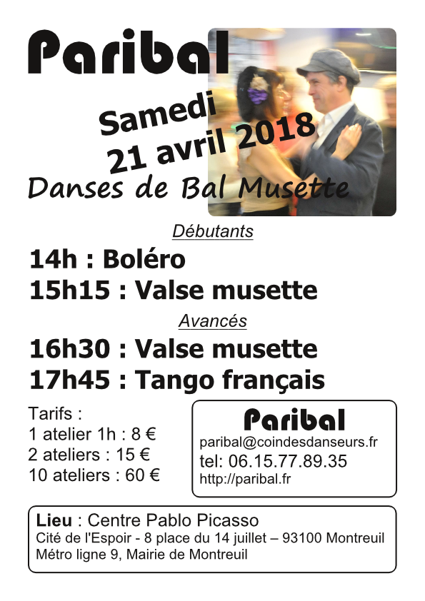 Stages de danses de bal musette