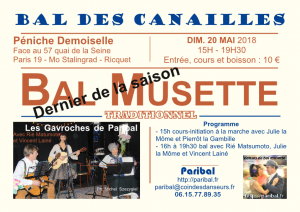 Bal des Canailles mai 2018