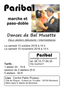 stage octobre débutants